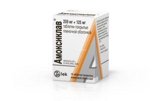 Дозировка и правила приема Амоксиклава 250 мг